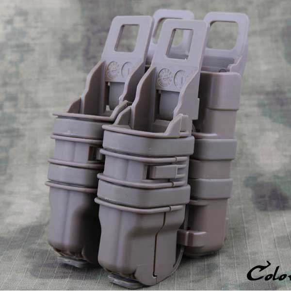 Fast Rifle+Pistol 4set Tactical Mag Pouch Holster Magazine Attach DE
