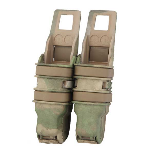 Heavy Double Fast Attach Molle System Holder Pistol Magazine Pouch