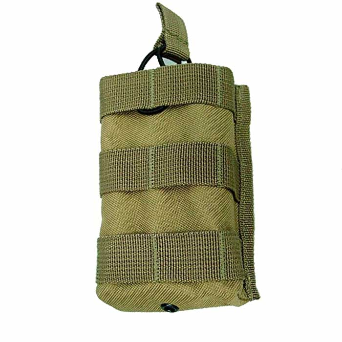 Outdoor Tactical Open Top Molle MPS AEG Single M4 Magazine Pouch DE