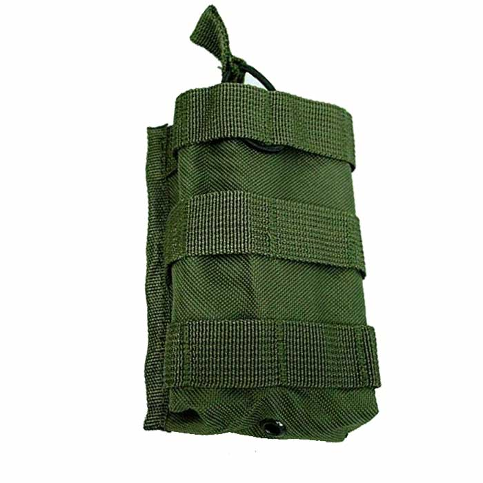 Outdoor Tactical AEG Single M4 Magazine Pouch Bag Molle Bungee Reloa