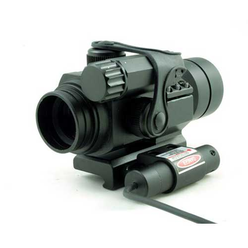 Illuminated 4 M.O.A. 30mm Red and Green Dot Scope