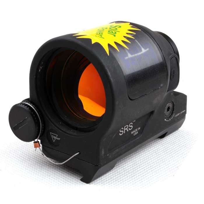 Tactical Trijicon SRS 1x38 Solar Reflex Red Dot Sight MOA Dot BK