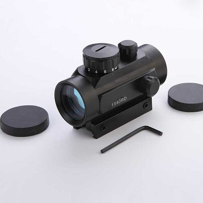 Tactical Holographic 1X40 11mm/20mm Red Green Dot Rifle Scope Sight
