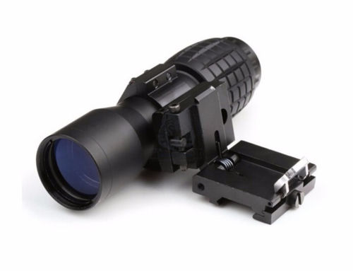4x Magnifier Scope Sight W// FTS Flip to Side Mount for 20mm Rail w// Lens Cover