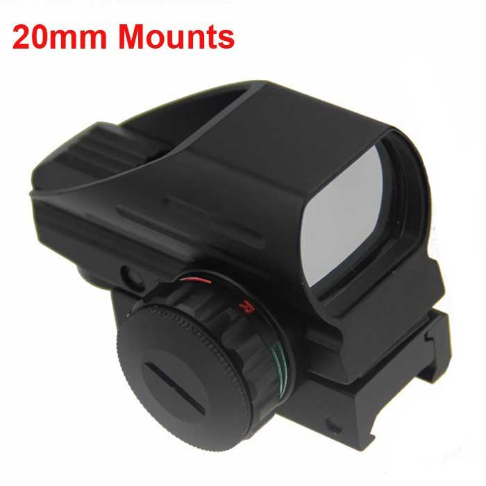Hunting Optics 1x22x33 4 Reticle Red Green Dot Scope Sight 20mm Moun