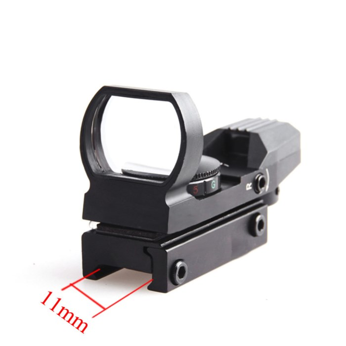 Tactical Holographic 1x22x33 Reflex Red Green Dot Sight 11mm Rail