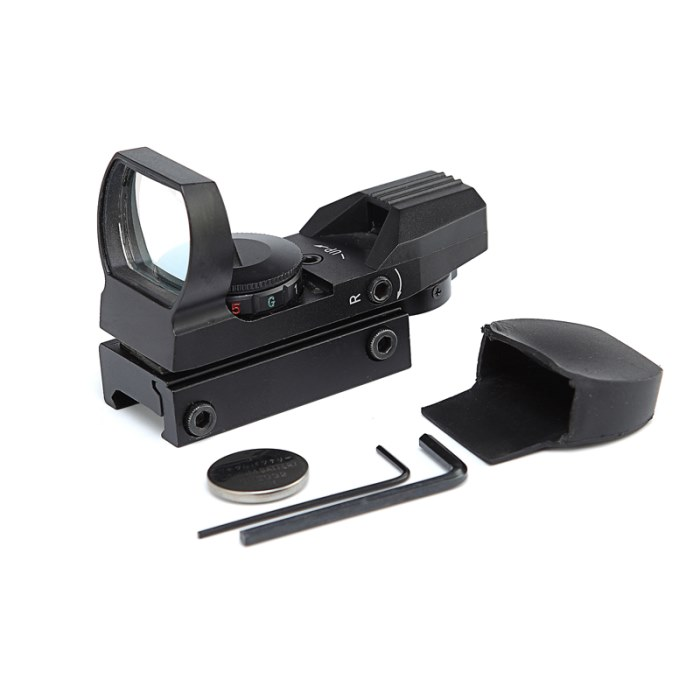 Tactical Holographic 1x22x33 Red Green Dot Sight Scope 20mm Rail