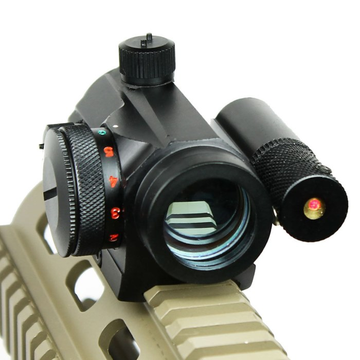 Tactical Reflex Green Red Dot Sight Scope & Laser Sight 1x22mm