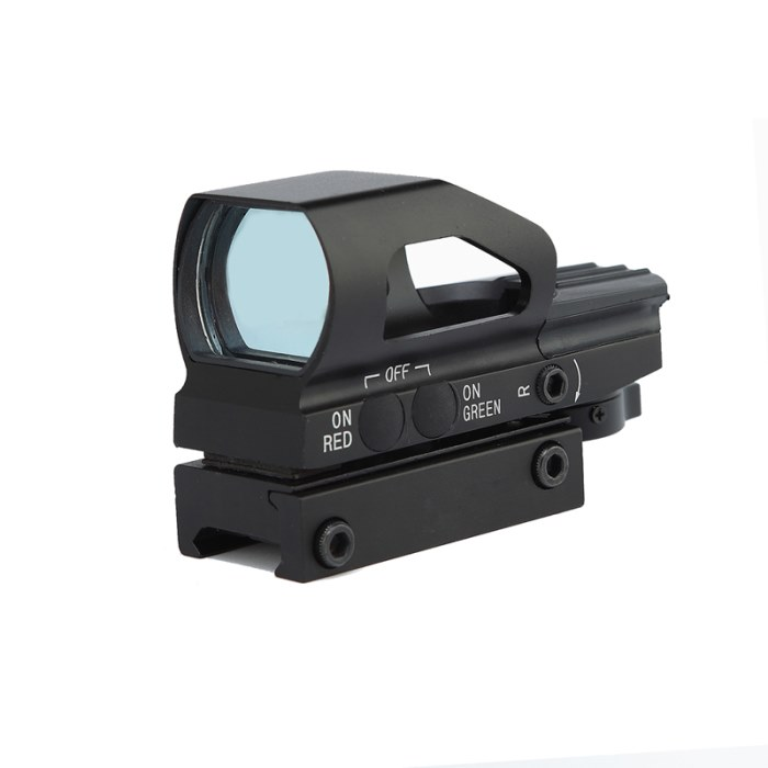 Tactical Holographic Red And Green Dot Sight+Battery+Allen Keys 22mm