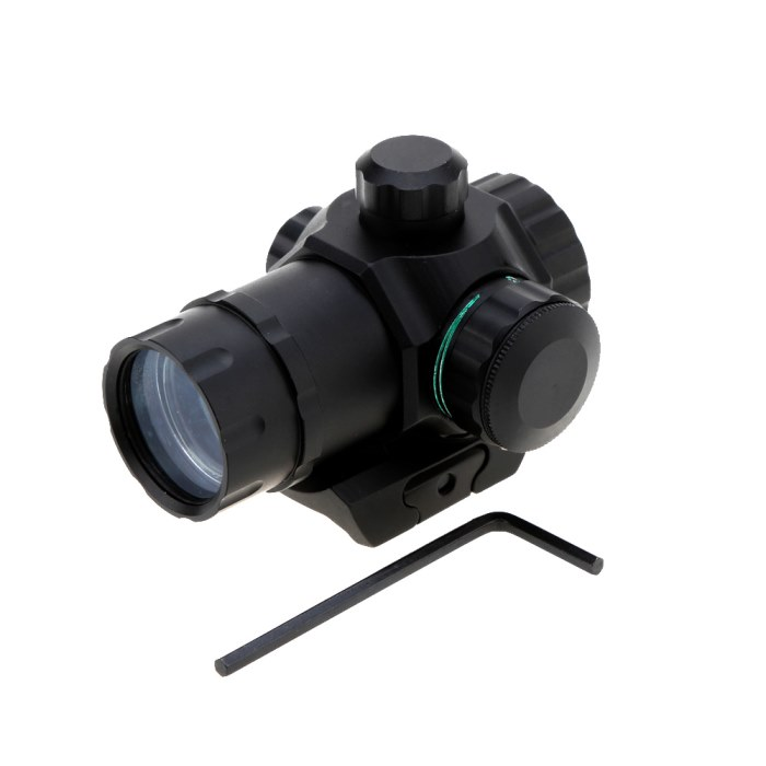 Riflescope 1X20 Red Green Dot Sight Optics Tactical Scope Reflex Len