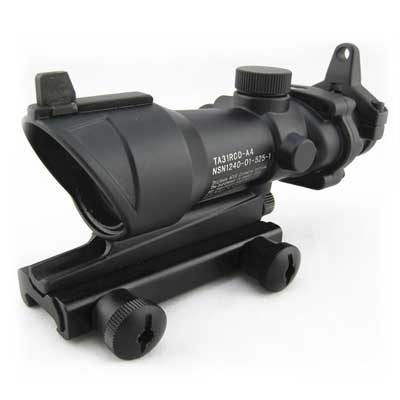 Tactical Acog TA01 4X32B Red Dot Scope Optical Fiber Source Crosshai