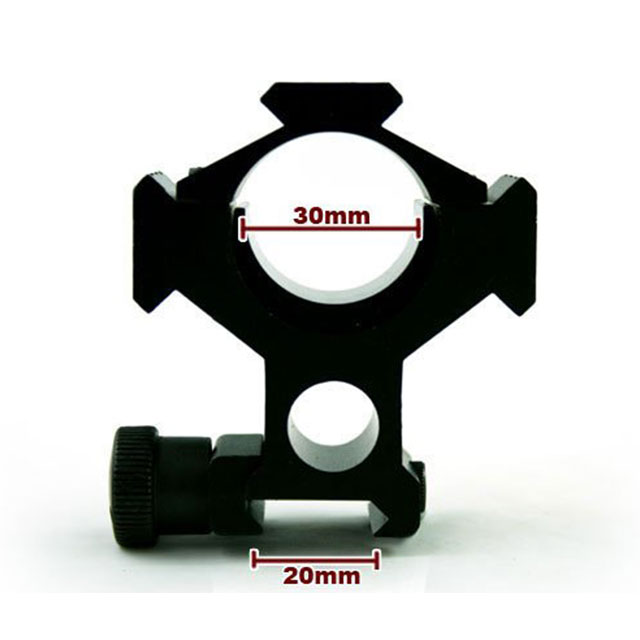 Adjustment rail 30mm scope flashlight mount