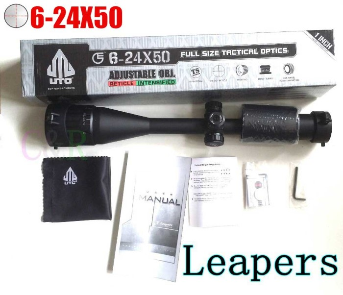 UTG 6-24X50 Full Size AO RGB Rifle Scope Tactical Optics