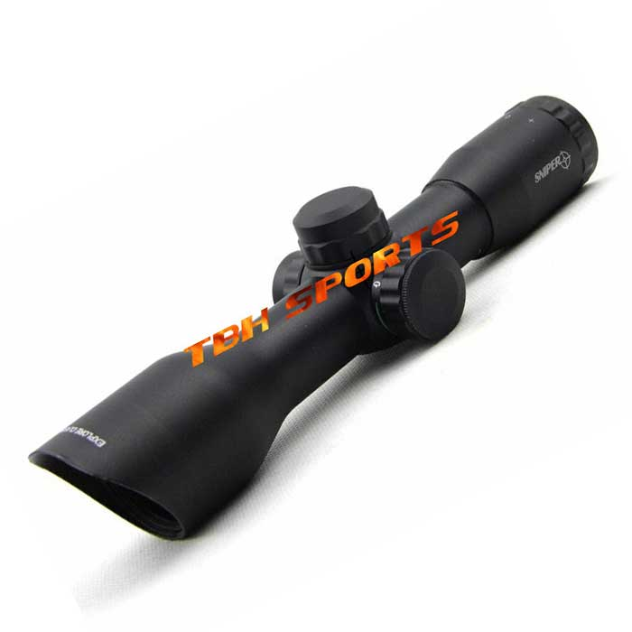 Tactical 4X32 Rifle Scope Adjustable Reticle Sniper Riflescope Bevel