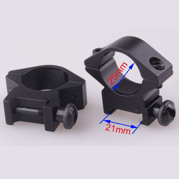 25.4mm Low QD Scope Flashlight Metal Ring Mount 20mm RIS Rail