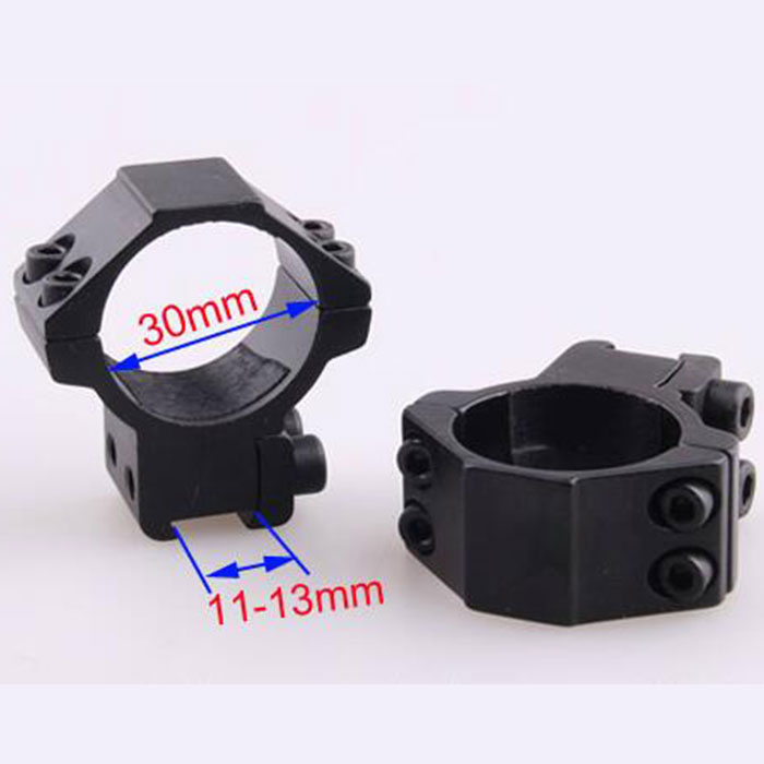 30mm Low QD Scope Flashlight Ring Mount 2 Screw 11mm RIS Rail Mount