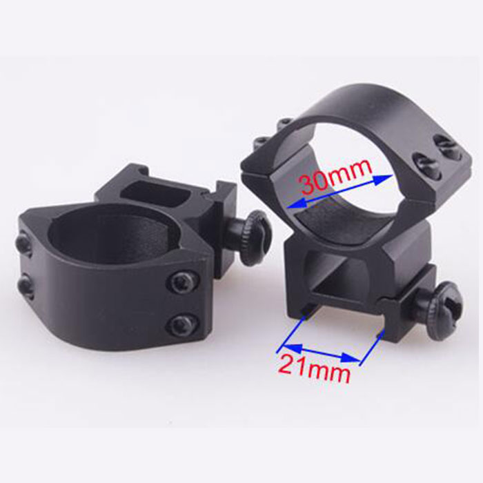 30mm High QD Scope Flashlight Ring Mount RIS 2 Screw 21mm Rail Mount