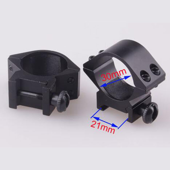 30mm Low QD Scope Flashlight Ring Mount 2 Screw 21mm RIS Rail Mount