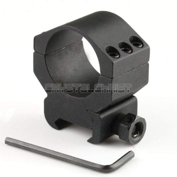 30mm Profile Scope Flashlight Ring Mount 21mm Picatinny Weaver Rail