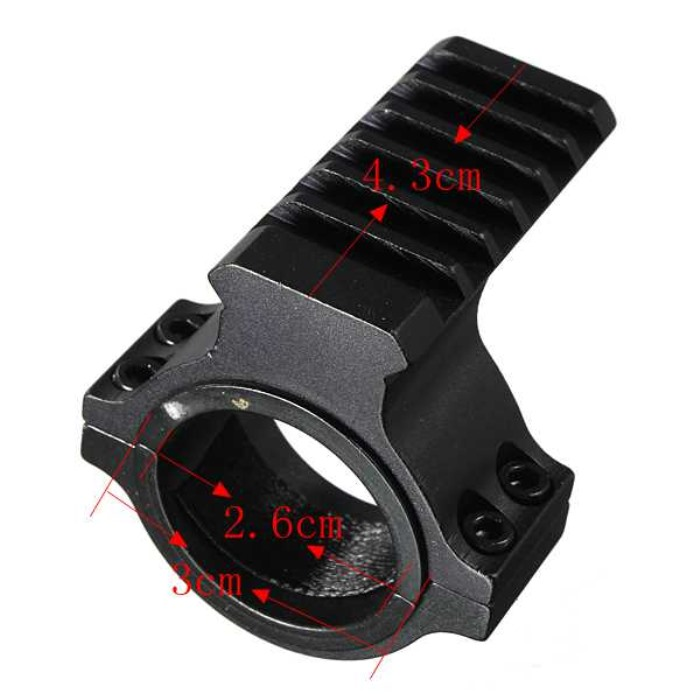 30mm Ring Scope Tube Flashlight Laser 20mm Weaver Rail Mount Adapter
