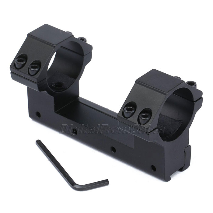 Double Ring Flat 30mm Ring Mount Scope Flashligh 11mm Dovetail Rail