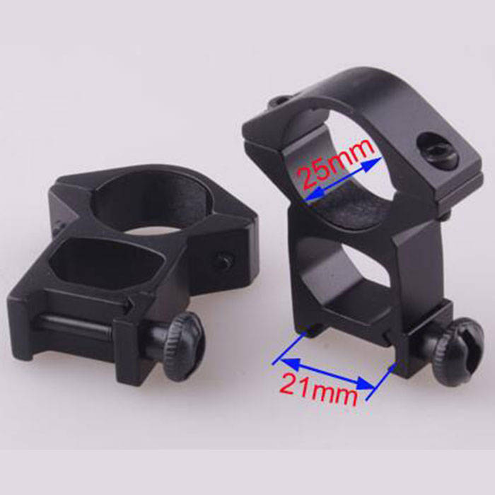 25.4mm High QD Scope Flashlight Metal Ring Mount 21 mm RIS Rail