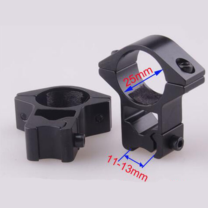 25.4mm High QD Scope Flashlight Metal Ring Mount 11 mm RIS Weaver Ra