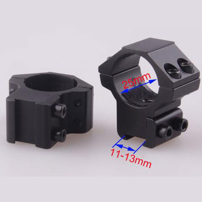 25.4mm Low QD Scope Flashlight Ring Mount 2 Screw 11mm RIS Rails