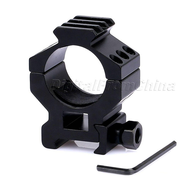 30mm Profile Scope Flashlight Ring Mount 3 Slots 20mm Weaver Rail