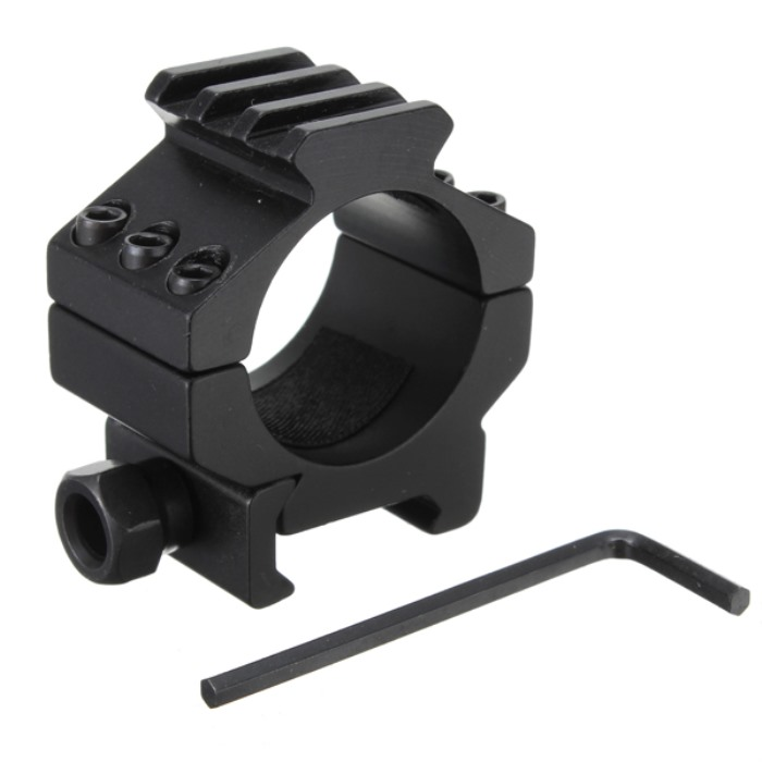 30mm Low QD Scope Flashlight Heavy Duty Ring Mount 3 Screw 21mm Rail