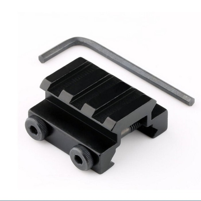"20mm New 1/2"" 3 Slot Low Riser Weaver Rifle Short Side Mount Rail"