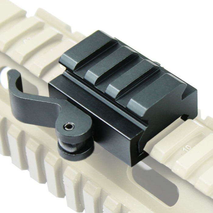 QD 20MM/21mm Quick Release Mount Adapter for Bipod Scope Weaver Rail