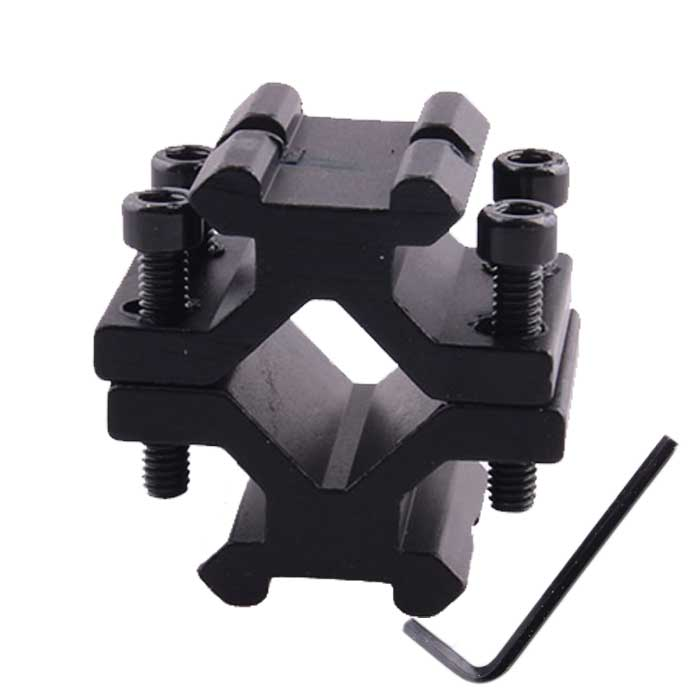 Adjustable Universal Double Rail 20mm Weaver Barrel Mount Adapter