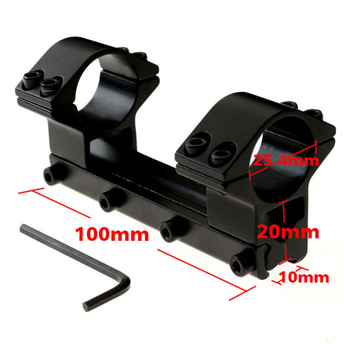 25.4mm High Ring 20mm Weaver 11mm Rail 100mm Dovetail Scope Mount