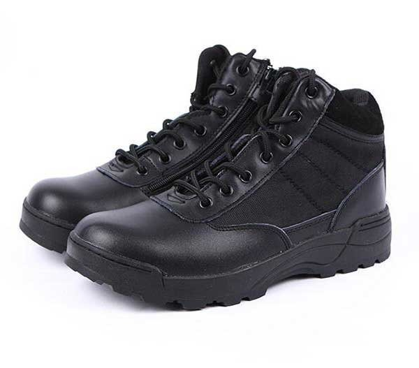Low Outdoor Bang Helped Swat Boots Tactical Military Mens Boots BK