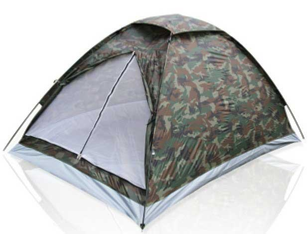 Outdoor Camping Tent Rainproof Two People Single Layer Camo