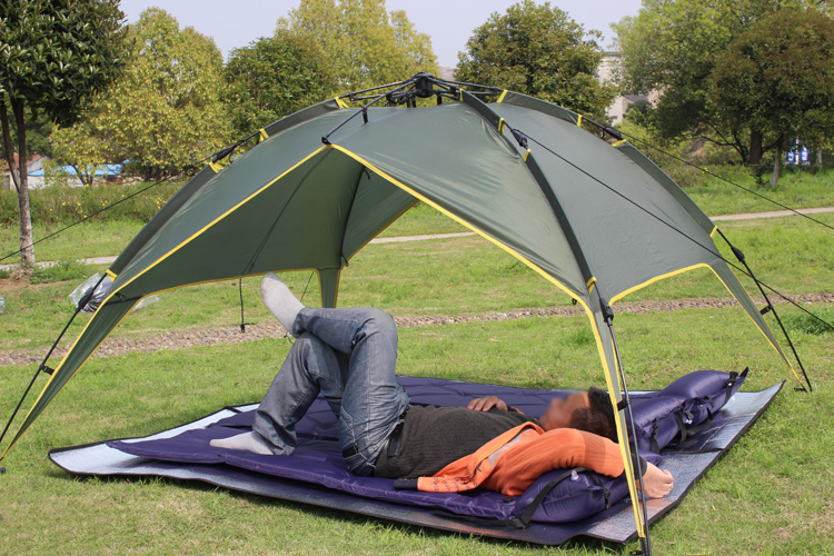 Outdoor Automatic Tents Two-story Design 210T Prevent Storm & Outdoor Automatic Tents Two-story Design 210T Prevent Storm ...