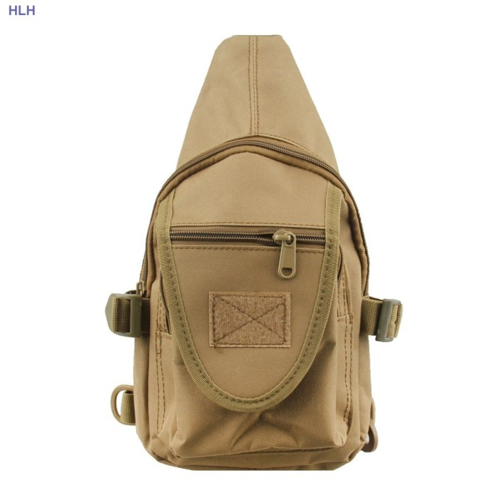 Hiking Chest Bags Tactical Camo Hunting Packbags For Male Tan