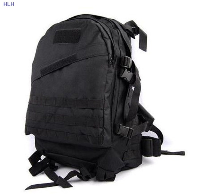3D Outdoor Sport Bags Tactical Army Fans Men Travel Bags Black