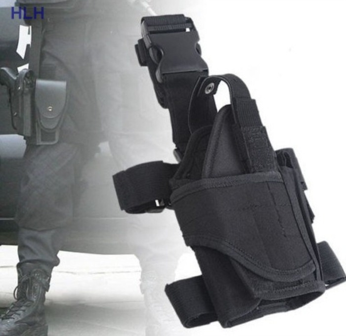 Military Sport Leg Bags Tactical Outdoor Men Leg Bags Black