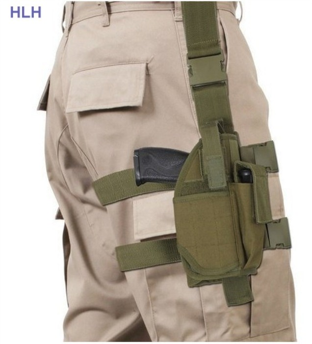 Tactical Men Sport Leg Bags Green Pouch CS Game Leg Pack