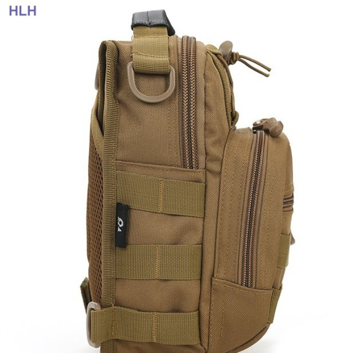 Tactical Shoulder PackBags Military Chest Bag For Man Tan