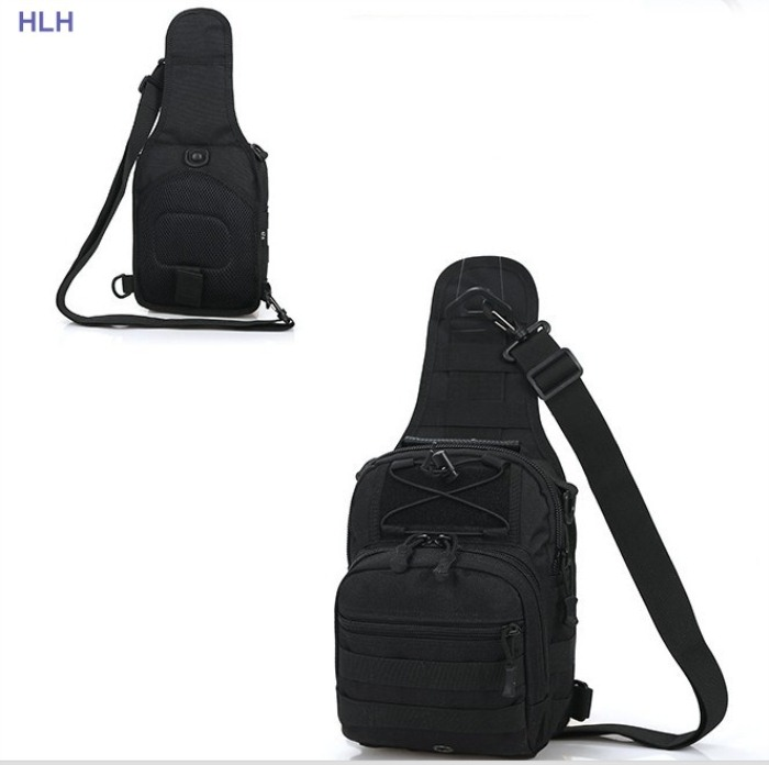 Multifunction EDC Chest PackBags Outdoor Shoulder Bags Black