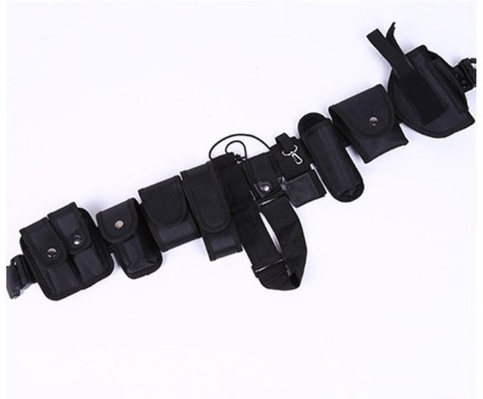 Armed Belt Security Tactical Equipment 10 Piece Set Waist Band