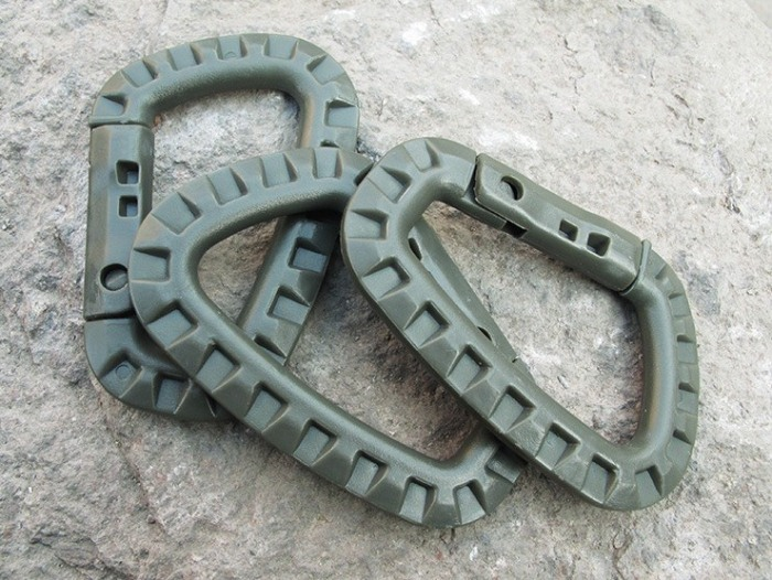 Plastic Lightweight D-ring Hiking Mountaineering Hanging Hook/Clip
