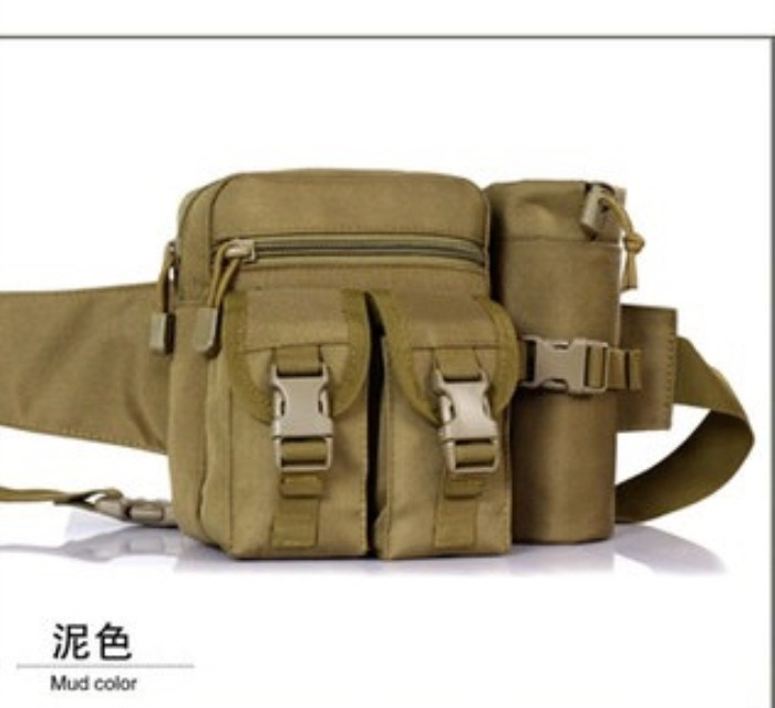 Nature Hiking/Running Waist Belt Bag Tactical Water Bottle BackPack