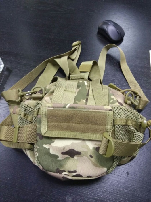 Sport Nylon Tactical Military Sling Single Shoulder Chest Bag CP