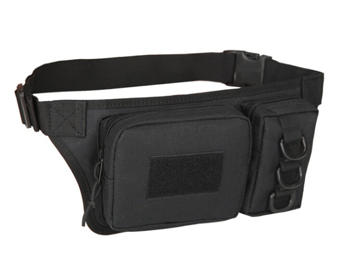 Cycling Tactical Bags Chest Packbags Sports Waist Bags Black