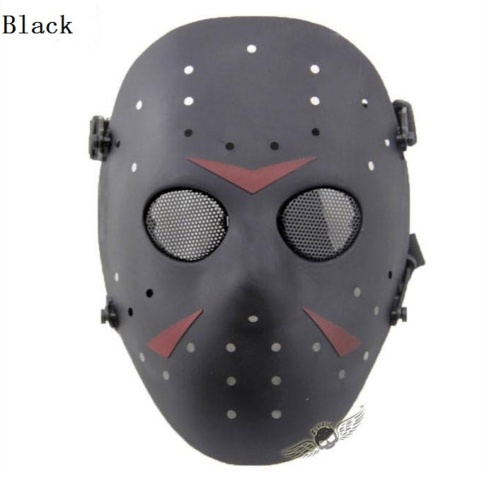 Paintball Airsoft Tactical Jungle Full Face Mask Black
