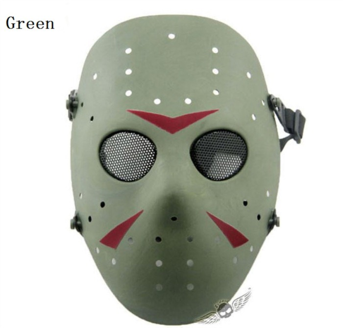 Paintball Airsoft Tactical Jungle Full Face Mask Green